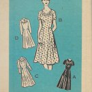 Vintage Mail Order Printed Pattern 9072 Dress Neck Sleeve Variations Size 20 1/2 UNCUT