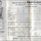 Vintage Mail Order Pattern 8162 Dress Size 40