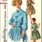 Simplicity 4010 Vintage Teen Junior 1950s 1960s Dress Pattern Size 12 CUT