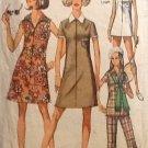 Simplicity 8848 (1970s) Vintage Dress Tunic Top Pants Pattern Size 16 Petite CUT
