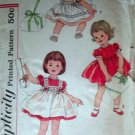 Simplicity 3251 (1950s) Vintage Infant Child Girl Dress Pinafore Pattern Size 1 CUT