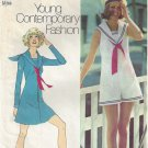 Simplicity 9982 (1972) Vintage  Mini Sailor Dress Jumper Shorts Pattern Size 12 UNCUT