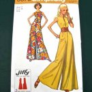 Simplicity 9370 (1971) Zip Front Sleeveless Extra Wide Leg Jumpsuit Pattern Size 12 UNCUT