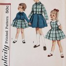Simplicity Primer 3134 (1960s) Vintage Child Girls Dress Jacket Pattern Size 2 UNCUT
