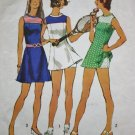 Simplicity 5059 (1972) Vintage Tennis Suit Mini Dress Shorts Pattern Size 10 UNCUT