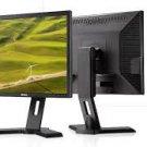 Lot of (2) Dell Professional black P190S 19 Inch LCD Monitors w/Adj stands