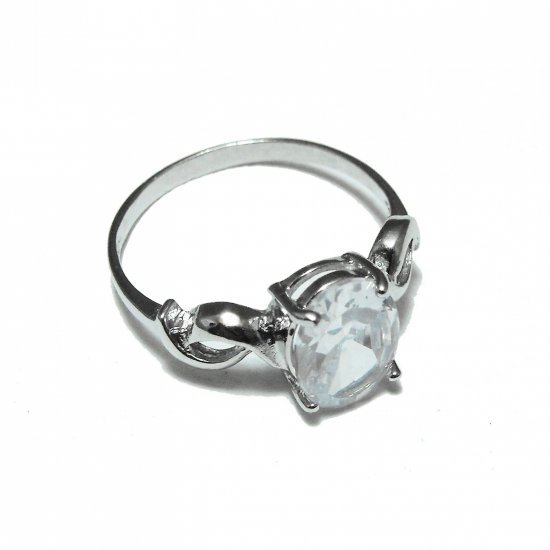 Sterling Silver And Sapphire Ring (sz.7½)