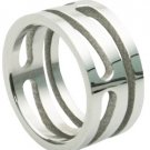 Carved Stainless Steel Ring (sz.10)