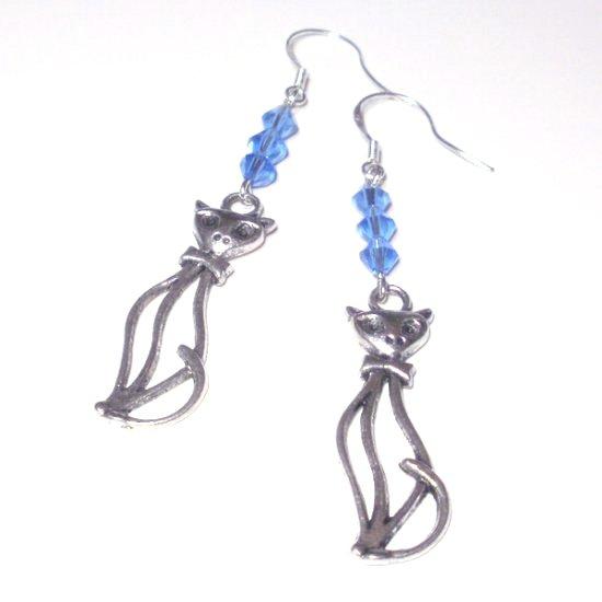 Swarovski Cat Earrings