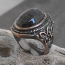Copper And Ocean Jasper Stone Ring (sz.10)