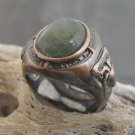 Copper And Aventurine Stone Ring (sz.8)