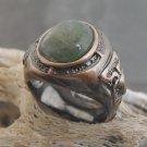 Copper And Aventurine Stone Ring (sz.8)