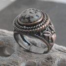 Copper And Jasper Stone Ring (sz.10½)