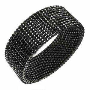 Steel Mesh Ring Sz.10½ (blk.)