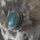Copper And Oval Aventurine Ring (sz.7)