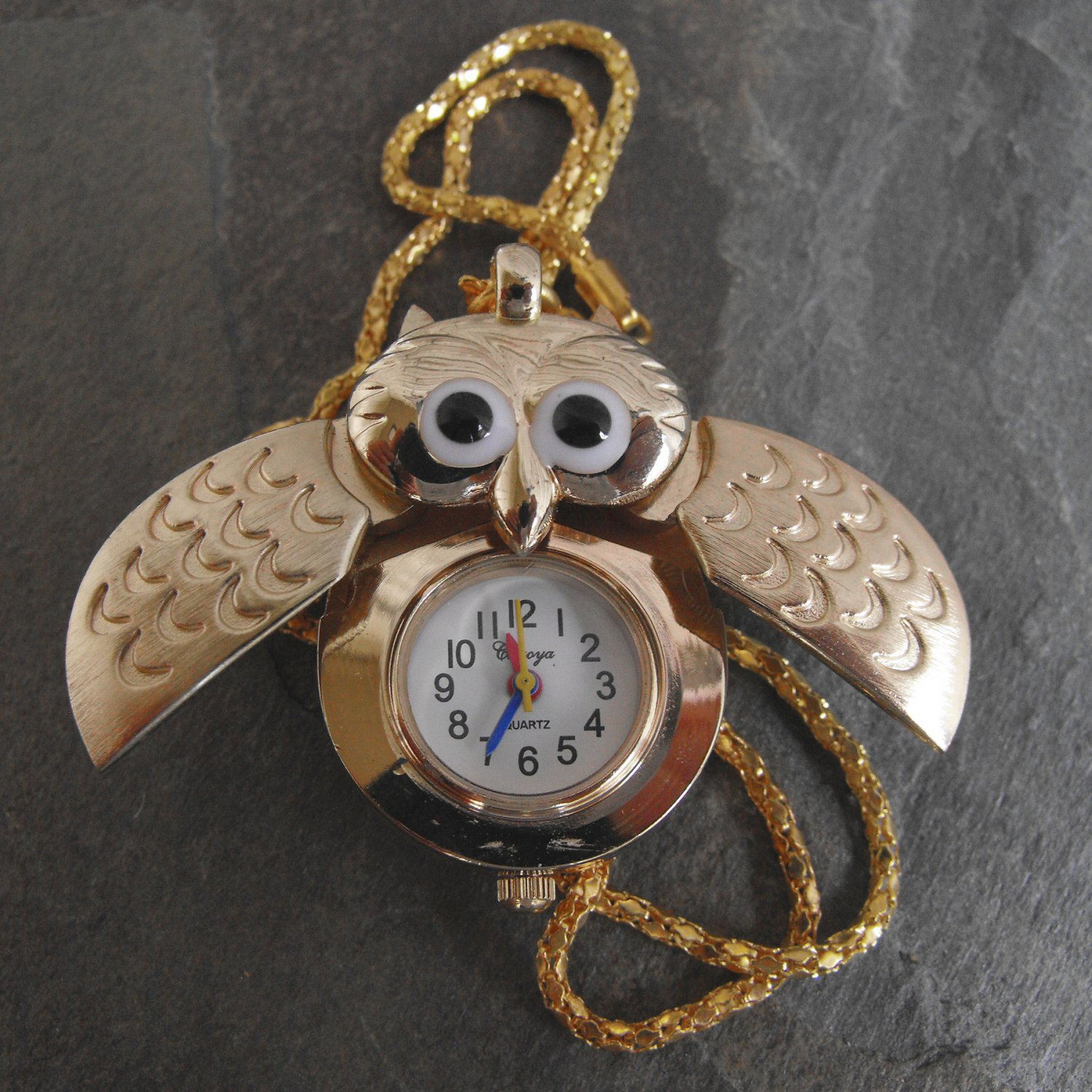 Gold Color Cuckoo Timepiece With Chain
