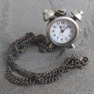 Bronze Tone Vintage Style Pendant Timepiece