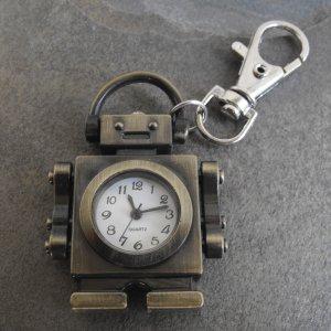 Robot Clock Key Chain