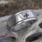 Stainless Steel Cross Spinner Ring (sz.11)