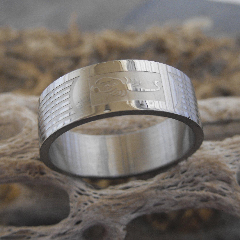 Stainless Steel Scorpion Ring (sz.12)