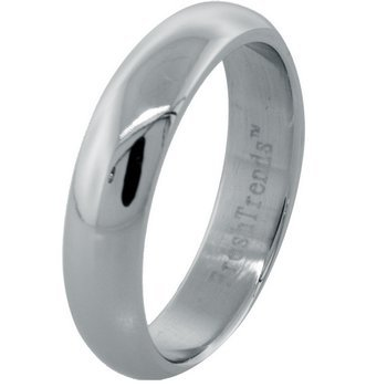 Polished Stainless Steel Band (sz.8,11,12,13)