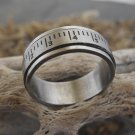 Stainless Steel Ruler Spinner Ring (size 9.5)