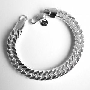 Sterling Silver Double Link Chain Bracelet