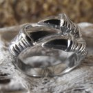 Goth Stainless Steel Dragon Claw Ring (sz.10,10½)