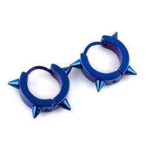 Stainless Steel Stud Hoop Huggie Spike Punk Earrings