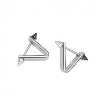 Stainless Steel Triangle Taper Screw Ear Studs