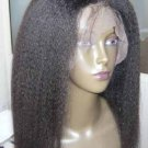 Full Lace Wig 18 inches Kinky Straight 100% Indian Remy