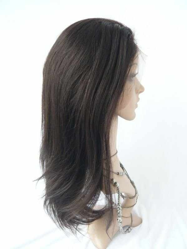Yaki Straight 100% Indian Remy Full Lace Wig 18 Inches