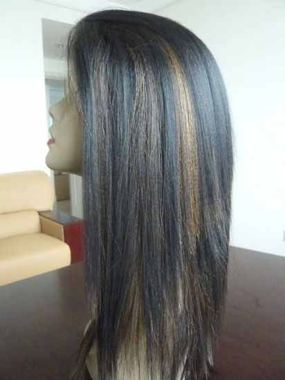 LACE FRONT 100% Indian Remy Wig 12 inches Yaki Straight