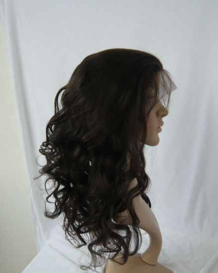 """Indian Remy 16"""" Front Lace Wig Curly"""