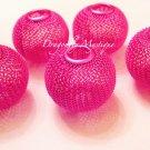 Mesh Ball Bead  30mm Hot Pink