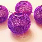 Mesh ball Bead 30mm  Purple