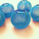 Mesh Ball Bead 30mm Turquoise