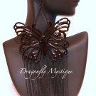""""""" Butterfly """" Dangle Fashion Earrings Black"""