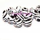Basketball Wives Zebra Beads Black & White