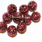 18mm Basketball Wives Resin Beads Purple & Gold Stripe