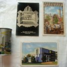 1934 Chicago World's Fair Century of Progress Tin Litho Bank + 3 Postcards