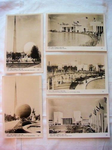 New York World's Fair 1939 Postcards - Lot of 5
