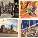Century of Progress Chicago World's Fair Postcards (ca. 1933) - Lot of 4