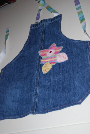 Girls Recycled Jean Apron (full)