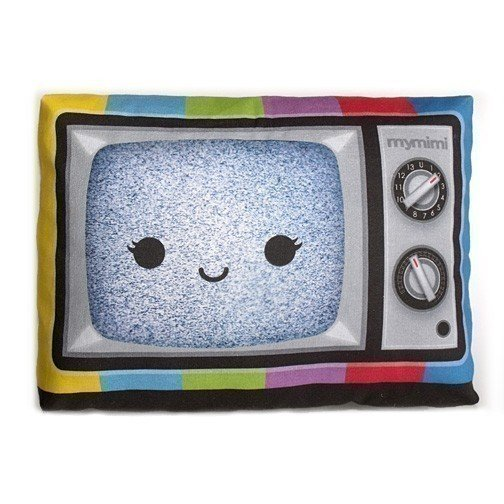 Color TV Mini Pillow