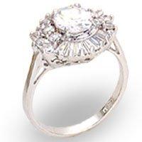 Clear Rosette CZ Ring (A22027)