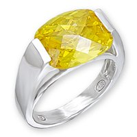 Large Yellow Topaz CZ (A50708)