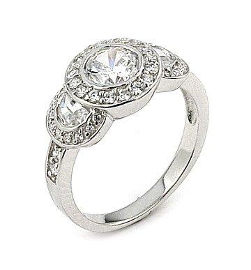 Elegant Round CZ Ring (SGRW733)