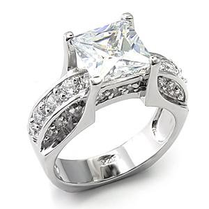 8mm Square Solitaire Ring (A7X272)