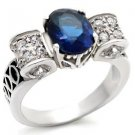 Oval Montana Blue CZ Ring (A32807)